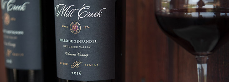 Mill Creek Vineyards and Winery label